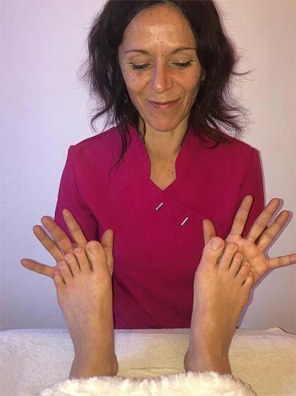 Peggy Danede pratique la réflexologie plantaire